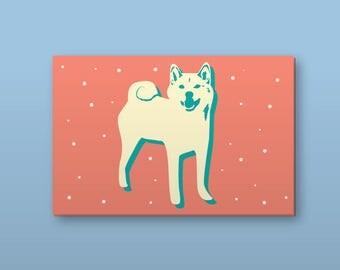 Pastel Shiba Stickers