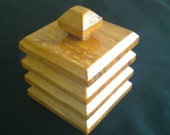 Jewelry square pine wood