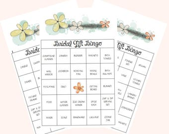 Bridal Bingo; Bridal Shower Bingo; Pre-filled Bingo Cards; Bridal Games; Wedding Shower Bingo;  Wedding Shower Games; Printable Bingo Game