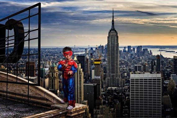 Spiderman City Backdrop | www.pixshark.com - Images ...