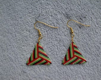 Colorful triangle earrings