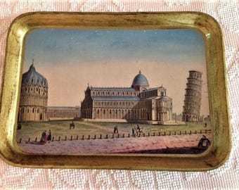 Italian Tray showing Pisa, Italy