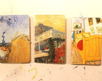 3 Notebook Set: Van Gogh in Yellow, Size A6 Pocket Notebooks