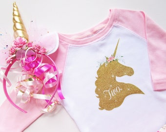 TODDLER UNICORN SHIRT / Pink Unicorn / Unicorn Shirt / Unicorn Party / Pink Unicorn Shirt / Unicorn Gift / Gifts for Niece from Aunt / 2T 3T