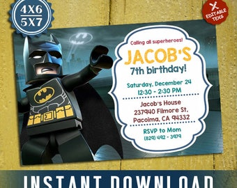 Batman invitations etsy pronofoot35fo Choice Image