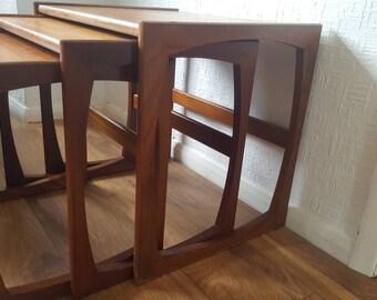 1960s G-Plan Quadrille Teak Nest of Tables