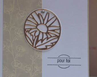 Card any occasion, flower Locket