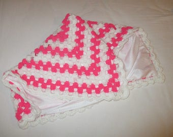 blanket wool pink and white gift birthstone
