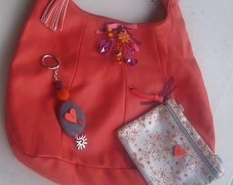 Bag bag faux leather purse + keychain