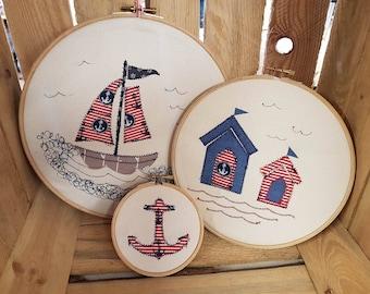 Set of 3 Nautical