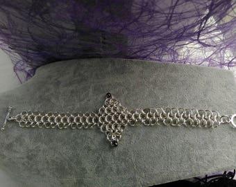 Bracelet unique chainmail style