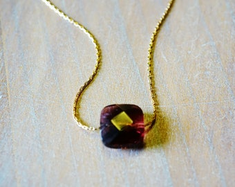 """Amethyst"" Goldfilled 14 k gold necklace"