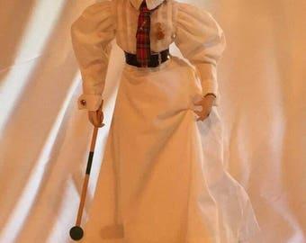 """Danbury Mint """"Croquet"""" Porcelain Doll"""