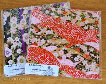 Japanese washi paper with various 15 cm - set of 10 patterns