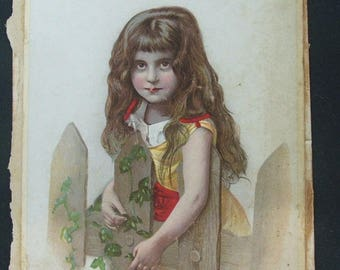 Double Sided Victorian Lithograph Card.