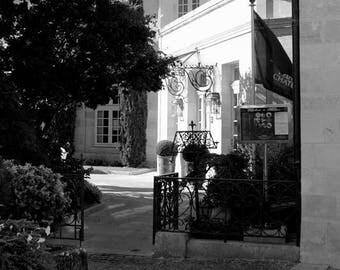 "Photography black and white: ""Terrace"" - Saint-Emilion, FRANCE - 2011"