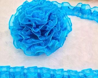 (X 1 meter) turquoise organza Ribbon