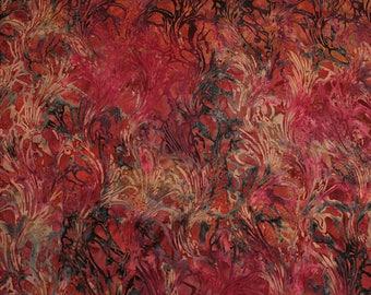 Coupon patchwork batik cotton number 2, fuschia, orange, purple - 113cm x 50cm - for traavaux patchwork, jewelry, accessories, scrap