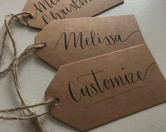 10 customized gift tags!