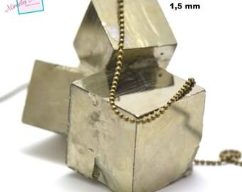 "1 m of string ""1.5 mm ball"", bronze 002"