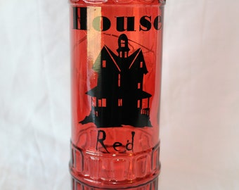 House Red Lighted Bottle