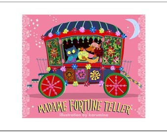 Madame Fortune Teller. Signed Art Print. A4.