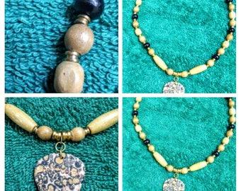 leopard skin jasper necklace