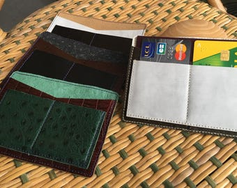 Card holder / Passport cover black and white elephant