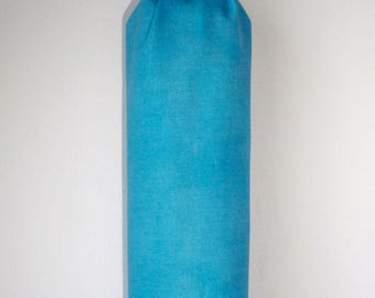 Pouch to discs cleansing cotton turquoise fabric