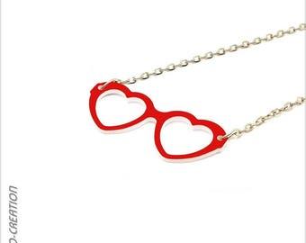"Necklace ""Hearts"" (small model) sunglasses"