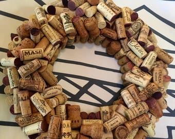 Custom Fine Wine Cork Wreaths