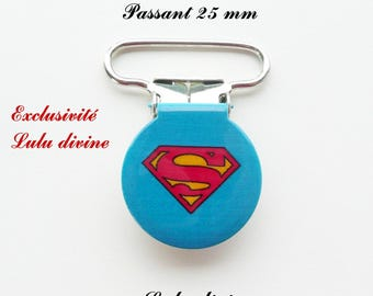 10 round clips, pacifier, logo Superman from 25 mm
