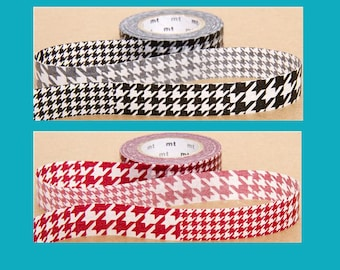 genuine Masking tape DECO red and black houndstooth collection