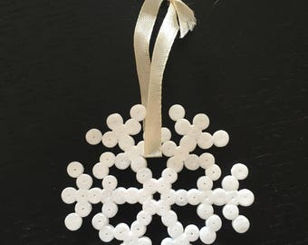 Christmas decoration hanging hama bead snowflake 2
