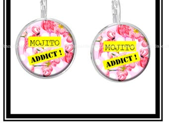 "Earrings ""Mojito Addict"""