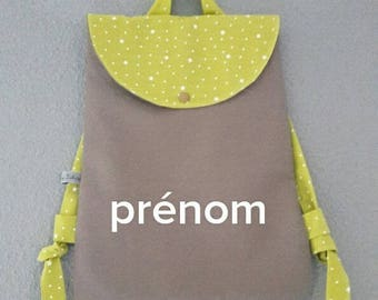 small backpack kids canvas and cotton granny star to customize