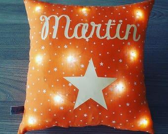 bright orange theme starry patterned 20x20cm Star Mini cushion to customize