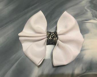 White Double Ribbon Bow