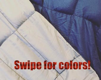 WEIGHTED BLANKET, autism, adhd, adult, teen, child, anxiety, sensory, weighted therapy, deep pressure, customizable, ptsd, restless leg