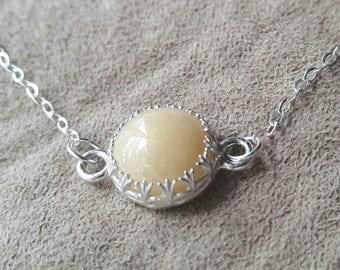 Sterling Silver Filigree Breastmilk or DNA Keepsake Necklace / Bracelet