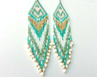 Ethnic earrings with Miyuki beads