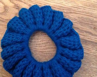 Blue flower hair band