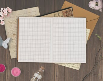 Passport Size: Graph Paper Insert for Passport Size Travelers Notebook Foxy No. 1 - 5 different covers   Printable   Instant Download
