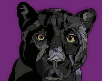 Black Panther on Purple