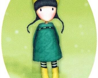 Girl print coat
