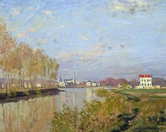 PLACEMAT semi-rigid ORIGINAL AESTHETIC WASHABLE and durable - Claude Monet - the Seine at Argenteuil 2.