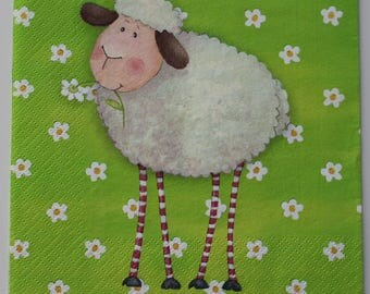 sheep napkin to the Daisy 4 identical designs