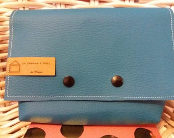 Teal Leather Pouch