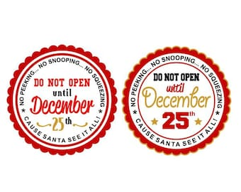Don't Open till Christmas Cuttable Design SVG PNG DXF & eps Designs Cameo File Silhouette