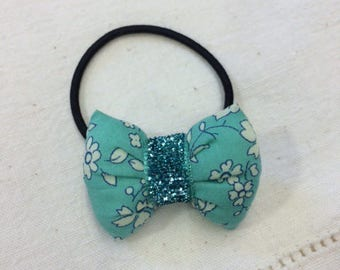 scrunchy with node LIBERTY CAPEL TURQUOISE